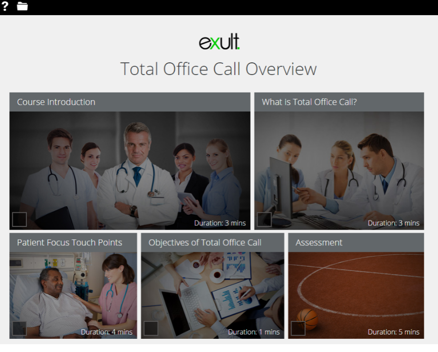 The Total Office Call module is a showcase item on the Adapt learning website